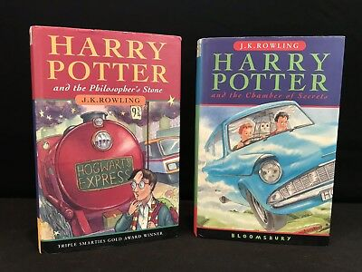 1st Edition, Early Print U.K. Bloomsbury Harry Potter Partial Set (books 1 & 2)