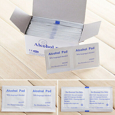 100x Disposable Alcohol Pads Alcohol Wipes Sterilization First Aid CleaningFBDU