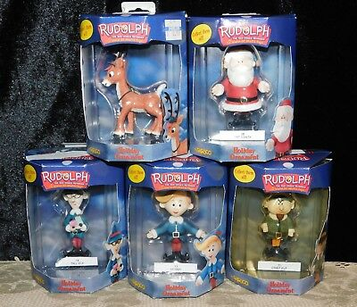 5 Rudolph The Island of Misfit Toys  Fat Santa & more Holiday Ornament by Enesco