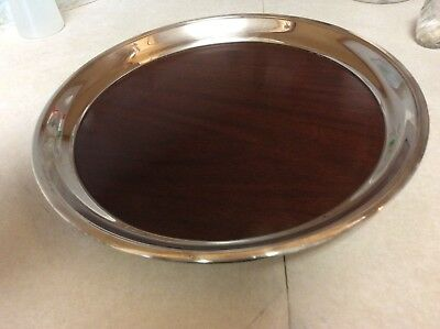 "F.B.Rogers Silver Co.Tray Westinghouse Micarta Vintage 14"" Round"