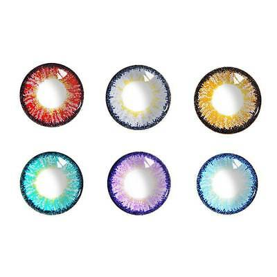 Fashion Women Colored Soft Big Eye Circle Contacts Lenses for Eyes Yearly Makeup