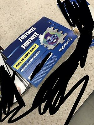 Fortnite Epic Walmart In Game Spray Early Code (unused Get Code Through Message!