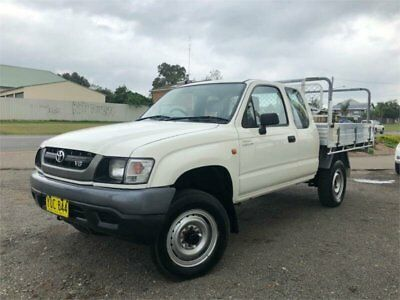 2003 Toyota Hilux VZN172R Workmate White Manual M Utility