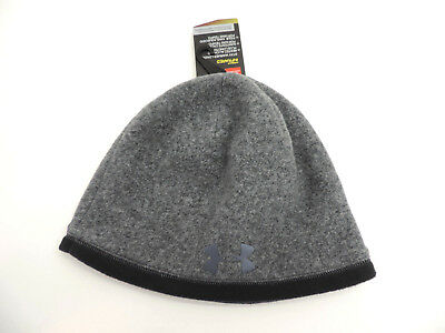 Under Armour Men s UA ColdGear Infrared Fleece Beanie Knit Hat Steel New NWT 46f8f0bd97b8
