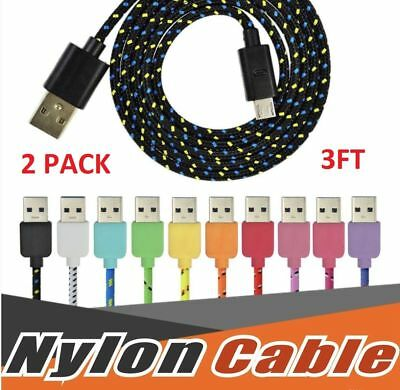 2 pack 3ft lightning cable usb sync charger cord apple iphone 6 7 8 X plus ipad