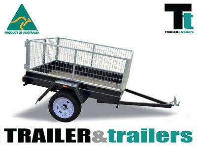 6x4 SINGLE AXLE LIGHT DUTY BOX TRAILER 2ft/600mm CAGE | REAR DOORS | SPARE WHEEL
