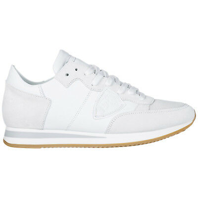 Philippe Model Men's Shoes Leather Trainers Sneakers New Tropez White F2E