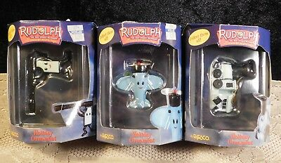 3 Rudolph The Island of Misfit Toys Jelly Pistol & more Holiday Ornament Enesco