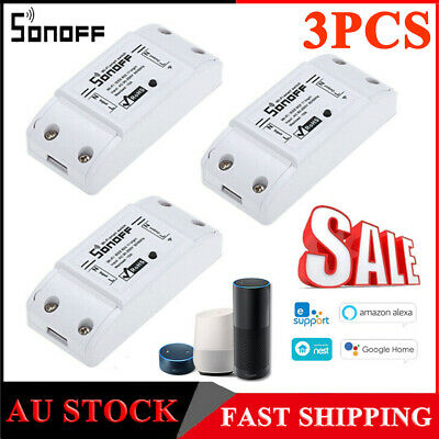 3X SONOFF 10A 2200W Wifi Wireless Smart Switch Timer Home Control System Y9N7