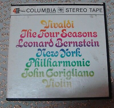 Stereo Vivaldi The Four Seasons Bernstein Columbia Reel to Reel Tape 4 Track