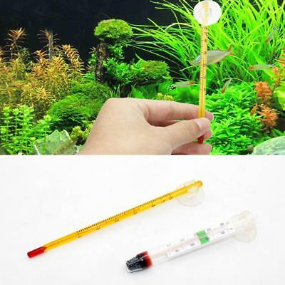 Glass Meter Aquarium Fish Tank Water Temperature Thermometer Suction Cup New