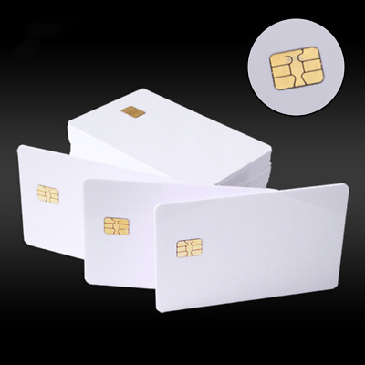 AU 10x RFID IC Card Contact SLE 4442 Chip PVC White Smart Card Inkjet Printable