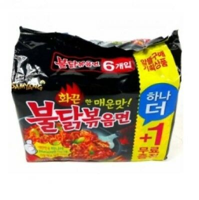 SAMYANG Korean Spicy Chicken Noodle BULDAKBOKEUM Ramen 5pcs + 1pc(free)