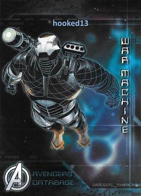 Marvel Avengers: Age of Ultron - Avengers Database War Machine Card