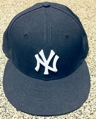 NEW ERA CAP NEW YORK YANKEES MLB FITTED HAT 59FIFTY 5950 On-Field BLUE Sz f8bbd3cff90