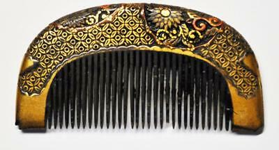 Geisha Antique Japanese Kushi-Kanzashi Hair Comb, Ornament