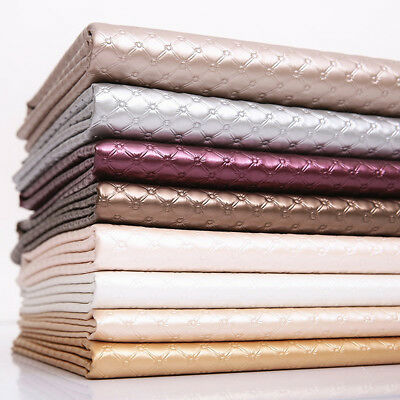 Pearly Diamond Faux Leather Fabric Leatherette Vinyl Soft Car Bed Upholstery