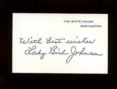 Lady Bird Johnson Official White House Printed Signature Card *sale* C-48