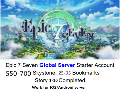 [N/A] Epic 7 Seven Global account Buy 2 get 1 free 550-700 stone 25-35 Bookmarks