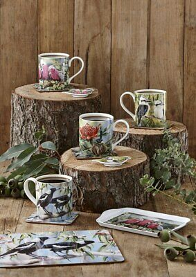 Ashdene Australian Bird & Flora Collection set of 4 Mugs