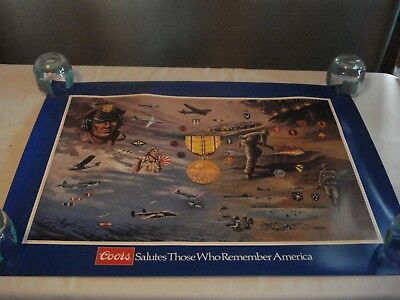 1984 Coors Beer Military Poster Armed Forces Asiatic-Pacific By George Skypeck