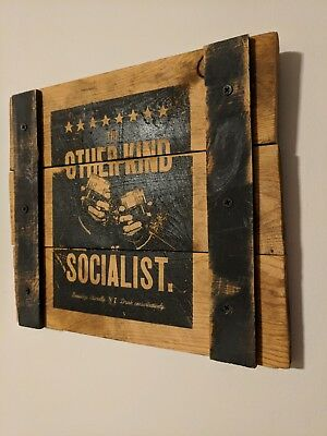 Jack Daniels Whiskey No 7 The Other Kind of Socialist Rustic Wood Sign