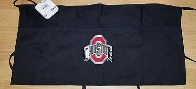 1 New (Osu) Black Server Apron, 3 Pocket Waist Tip Apron Restaurant Ohio State