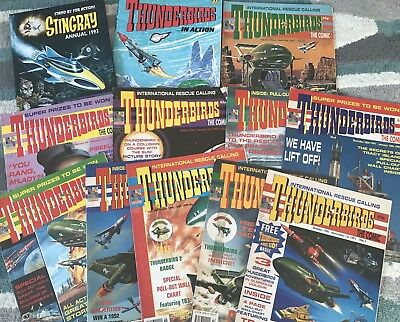 Thunderbirds The Comic 1 - 10 + Thunderbirds In Action + Stingray Annual 1993