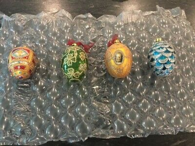 Joan Rivers Four Seasons 1st Edition 2007 Classic Collection 4 Egg Ornaments Set