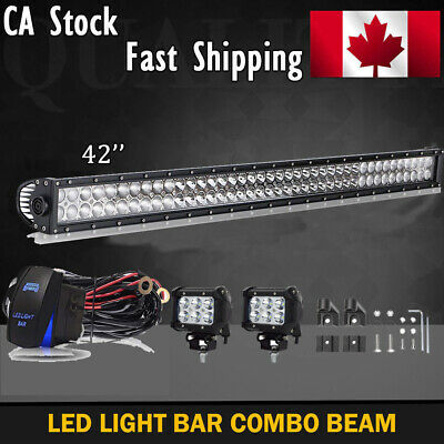 42IN Offroad Straight LED Work Light Bar SUV 4WD Jeep Truck Ford Boat Driving 50
