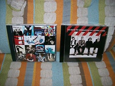 U2 2 CD Lot How to Dismantle an Atomic Bomb and Achtung Baby FREE SHIPPING