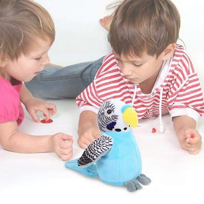 Cute Electric Talking Parrot Toy Speaking Record Repeats Waving Wings Kids Gifts