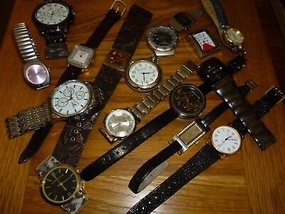 Huge Joblot Of Quartz Watches Spares Or Repairs Some Well  Known Makes