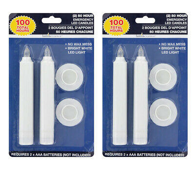 4 Luminessence Flameless LED Emergency Candles, 2-ct. Packs No Wax (4-pc)