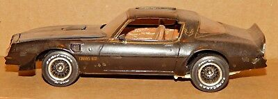 Vintage Smoky & The Bandit Pontiac Trans Am 1/25? Scale Plastic Built Model Car