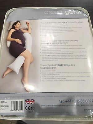 Dreamgenii Pregnancy Maternity Support and Feeding Pillow Cushion + White Cover