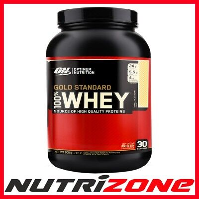 OPTIMUM NUTRITION GOLD STANDARD 100% WHEY PROTEIN Concentrate Powder 900g