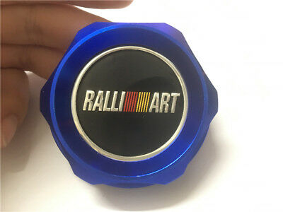 1Pcs Car Luxury Blue Ralli Art Racing Oil Filler Cap Fuel Tank Cover Aluminum