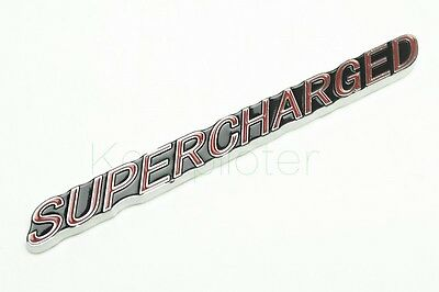 SUPERCHARGED Metal Emblem For Auto Car Body Side Rear Trunk Lid Sticker Badge