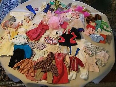 Vintage Baby And Barbie Doll Clothes Lot Of 109 Items