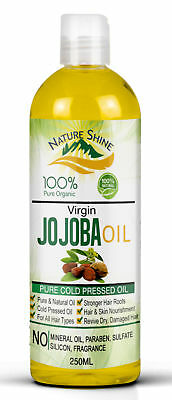 Nature Shine 100% Pure Golden Jojoba Oil Organic Cold pressed Hair & Skin 250m