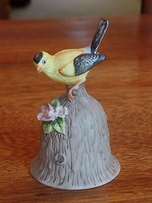 "Towle Fine Bone China Yellow Bird 4.5"" Porcelain Bell Mint"