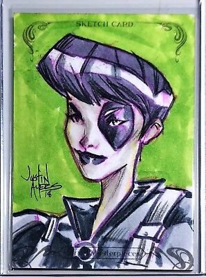 2018 Marvel Masterpieces - Domino - Sketch Card 1/1! Justin Ayers!