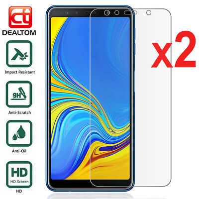 2X Tempered Glass Screen Protector For Samsung Galaxy J4 J6 J8 A6 A8 Plus 2018