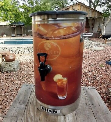 Bunn TDO-4 Commercial Iced Tea Dispenser with Lid Very Good Condition Coffee
