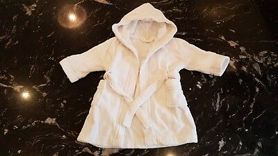 White baby dressing gown 9-12 Months