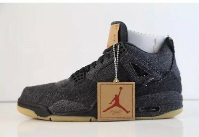 7d87d0933cff Nike Air Jordan 4 IV Retro Levis NRG Black Denim W Tag Size 11US AO2571