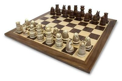 Wood Expressions Chess Medieval Chess Set Box SW