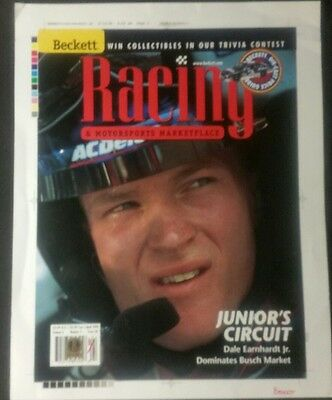 True 1/1 '99 Beckett Racing *Dale Earnhardt Jr On Cover *Junior's Circuit Issue
