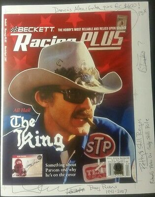 "TRUE 1/1 '07 BECKETT RACING *RICHARD PETTY ON COVER **""All Hail the King""  issue"